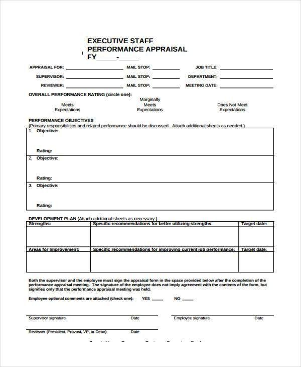 Employee Appraisal Form Sample 8 Hr Appraisal Forms Hr Templates - employee appraisal form sample