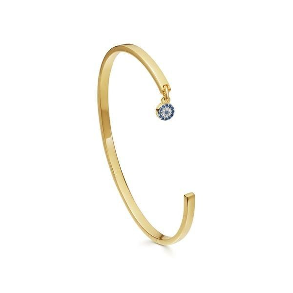 Gold Pave Evil Eye Charm Cuff