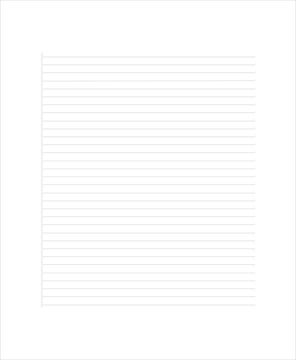 Microsoft Word Lined Paper Lined Paper Template Print Paper - lined paper pdf