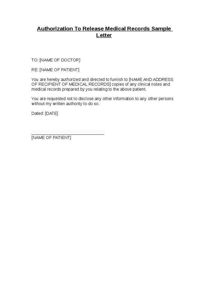 Medical information release form blank medical records release - medical records release form