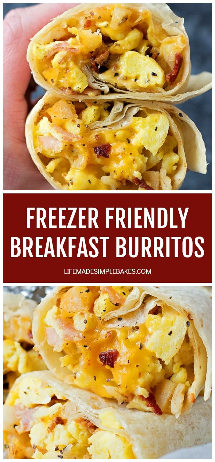 You're going to love these freezer-friendly breakfast burritos! They're easy to make, a breeze to customize and great for those rushed, chaotic mornings! #freezerfriendlybreakfastburritos #breakfastburritos #quickbreakfast #burritos