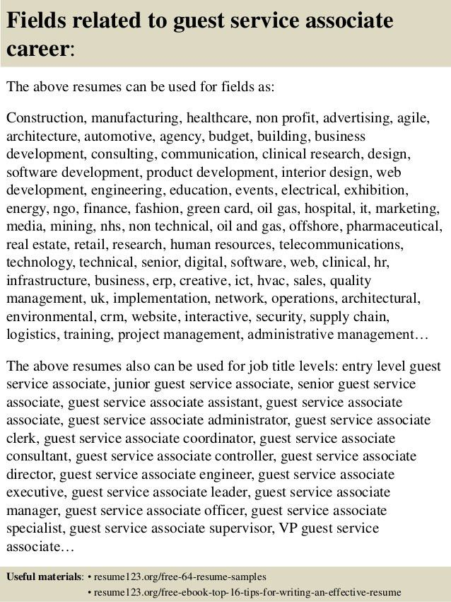 Guest Services Associate Cover Letter - sarahepps.com -
