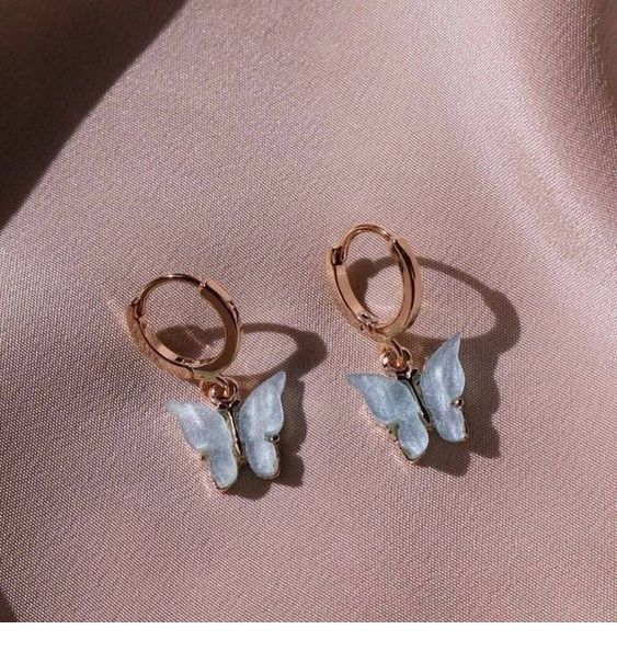 Cute blue earrings for summer