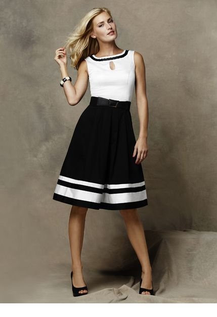 Classy black and white dress style