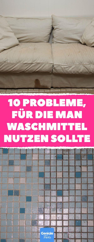 10 Probleme, für die man Waschmittel nutzen sollte #bad #haushalt #küche #putzen #waschpulver #waschmittel