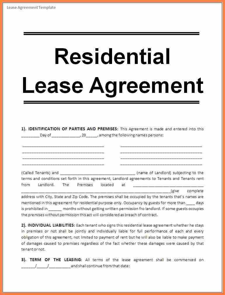Sample House Rental Agreement Word Format Sample House Rental - sample house lease agreement