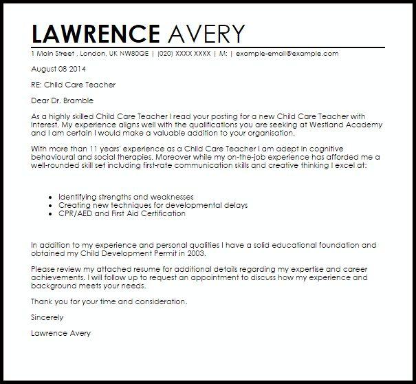 kindergarten teacher assistant cover letter cover letter for