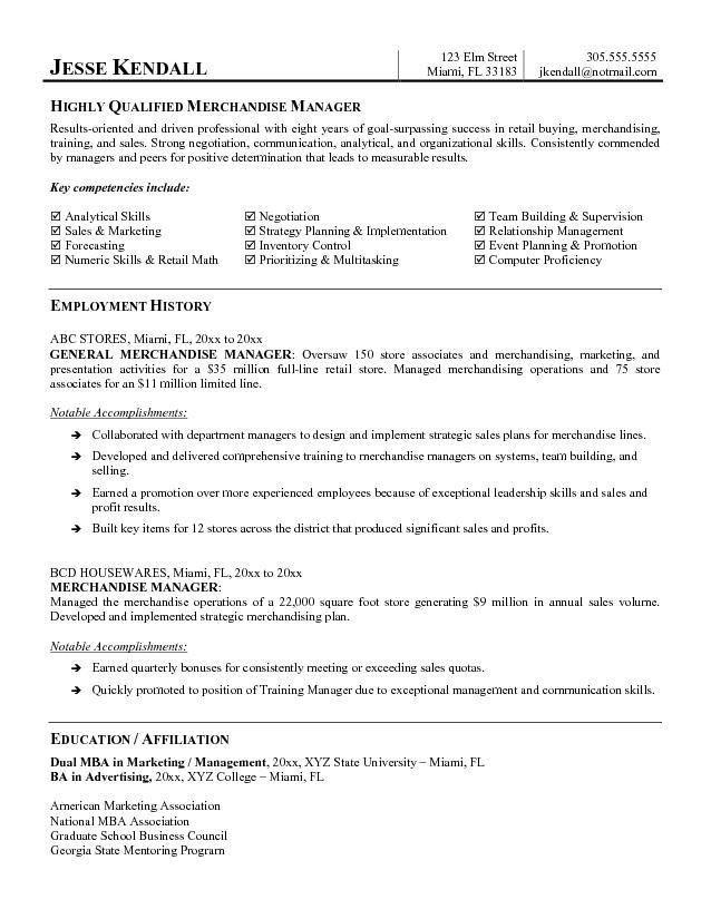 Merchandising Resume Examples Merchandiser Resume Example Sample
