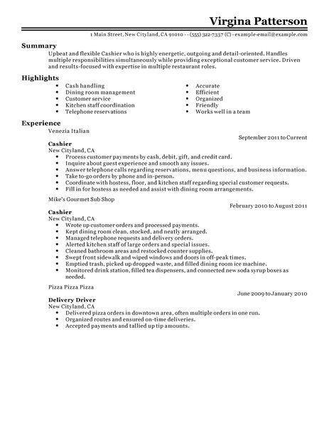 mcdonalds job description resumes