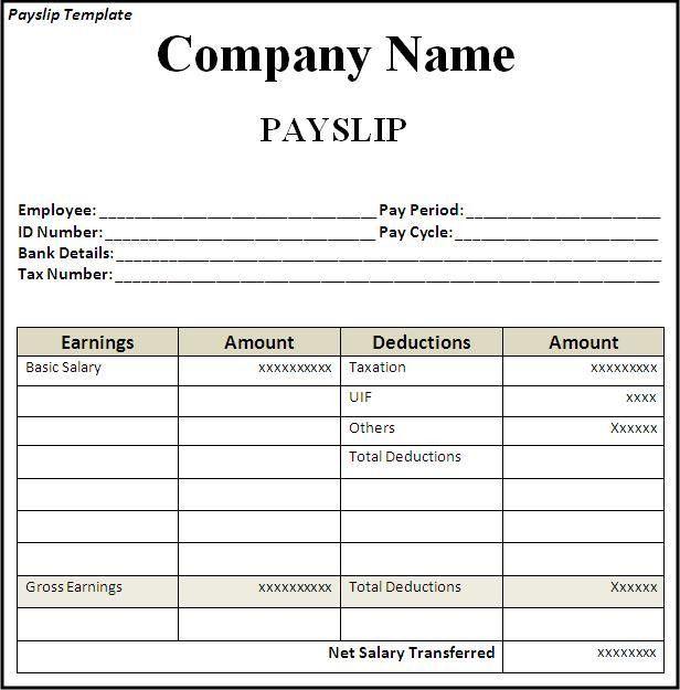 Superior Monthly Pay Slip [Nfgaccountability.com ] For Payslips Sample