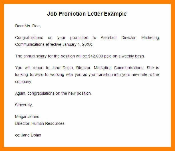 Employee Promotion Announcement Samples [Template.billybullock.us ]  Job Promotion Announcement
