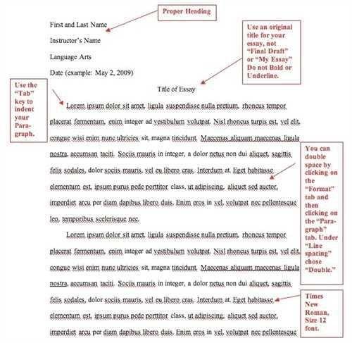 Mla Essay Title Page Mla Essay Example Purdue Owl Mla Formatting And