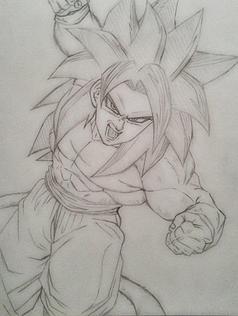Goku Ssj4 Desenhos A Lapis Goku Desenho Desenho A Lapis