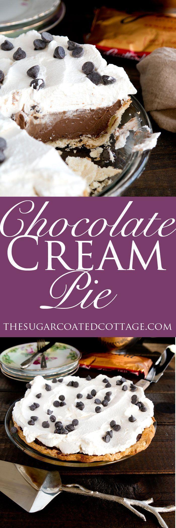 Silky Chocolate Pie ~~~chocolate pie!~~~