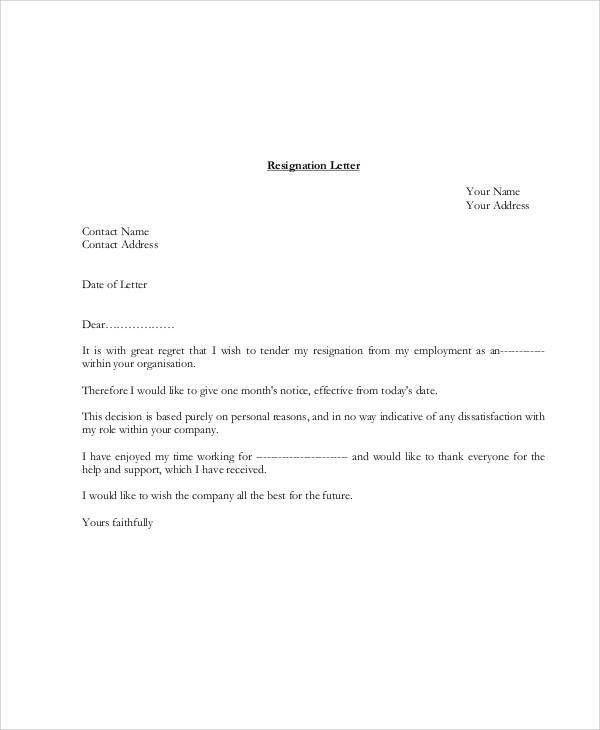 Heartfelt Resignation Letter 10+ resign letter sign bibliography - employment resignation letter