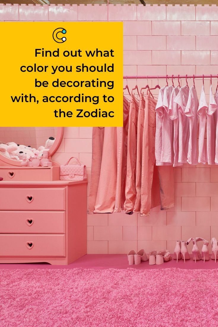 Find out what color you should be decorating with, according to the Zodiac