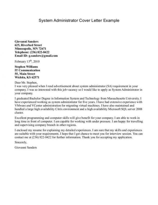 Music administration cover letter