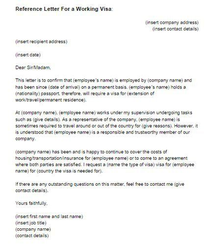 reference letter format example