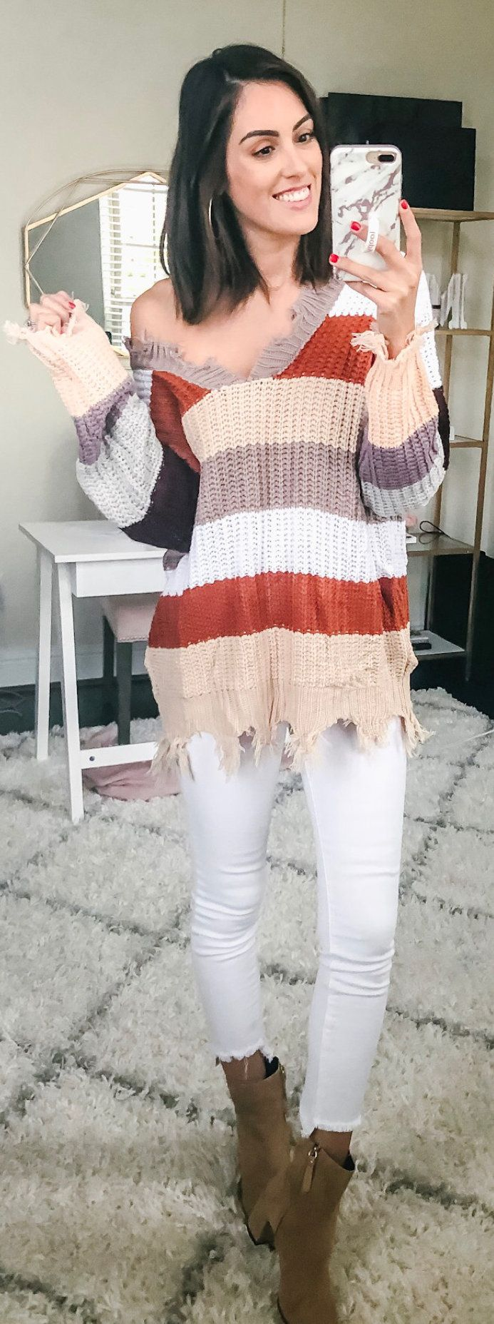 multicolored sweater