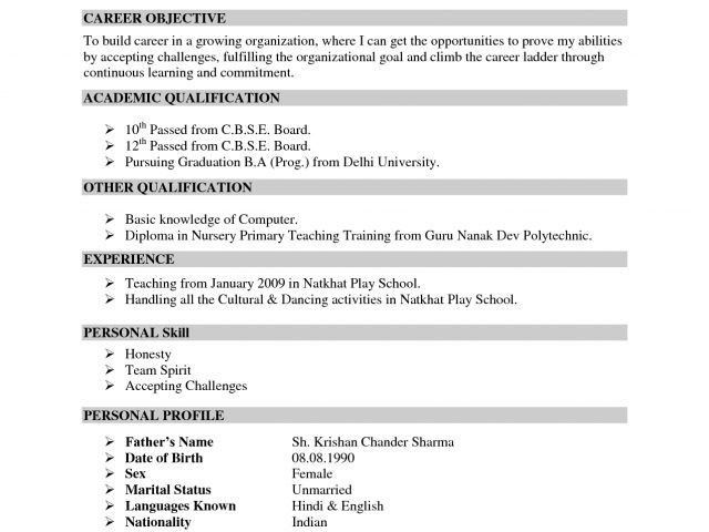indian resume format resume format india indian simple resume