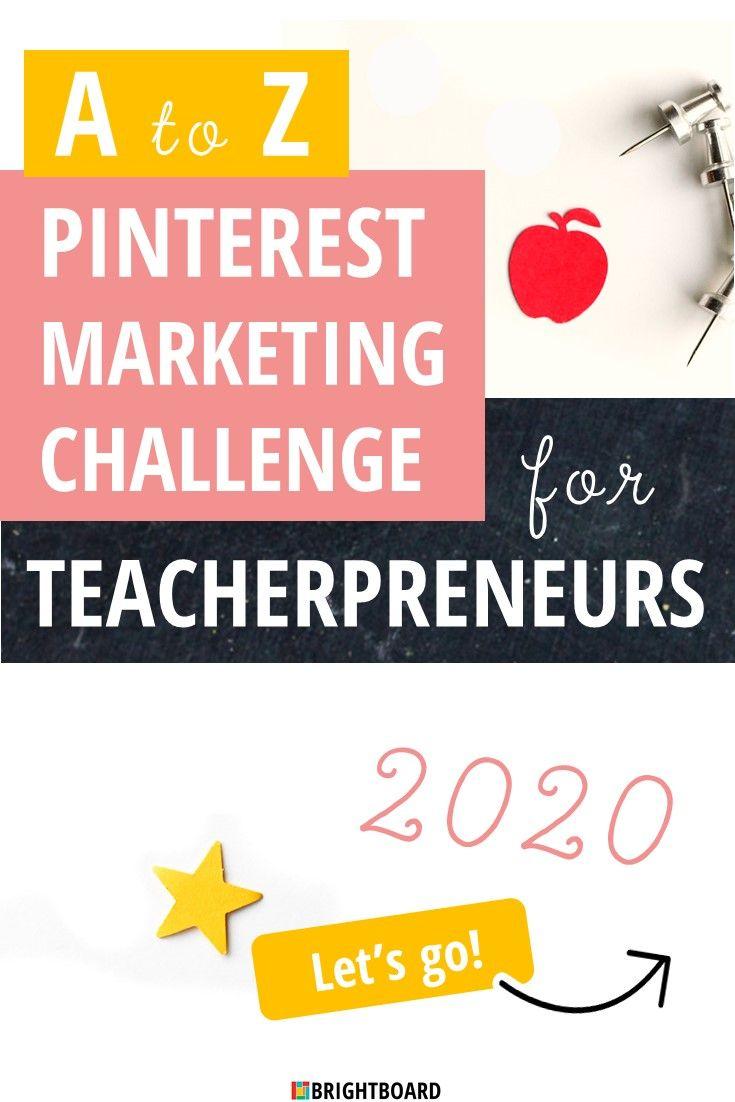 Pinterest Marketing Challenge for Teacherpreneurs - Highlight your education-focused business in 2020 with the help of this month-long Pinterest strategy tune up! #teacherpreneurs #tpt #tptsellers #pinterestmarketing