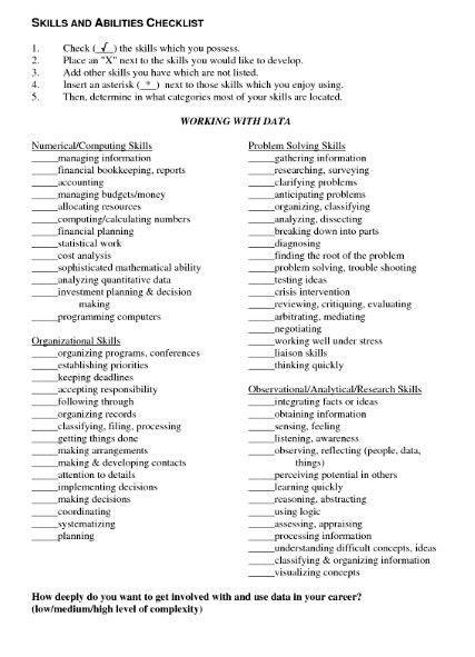 Skills And Abilities On Resume Examples Sample Of Resume Skills