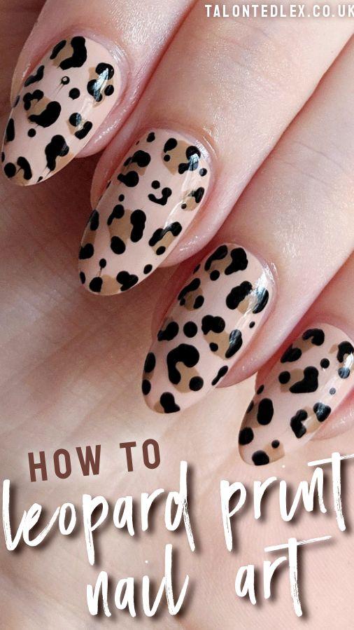 TUTORIAL: Leopard print nail art
