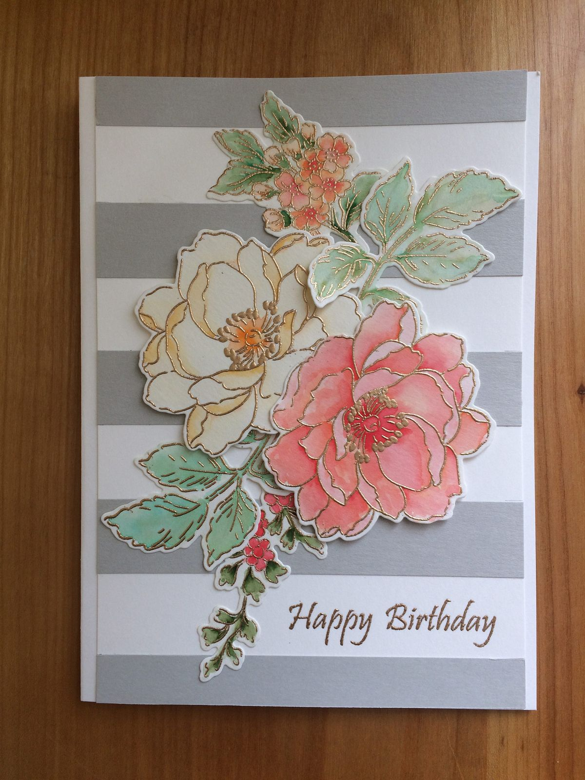 Happy birthday w/roses   by 1-2-3-stamp