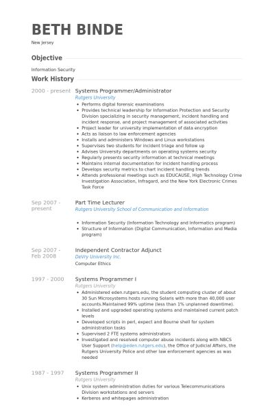 System Programmer Sample Resume  NodeCvresumePaasproviderCom