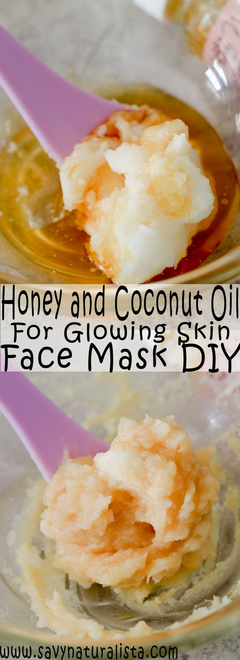 Looking to give yourfacea dewy and naturally glow look try thistwo-ingredientface mask. Coconut oil and honey is all you need for this skincare DIY!