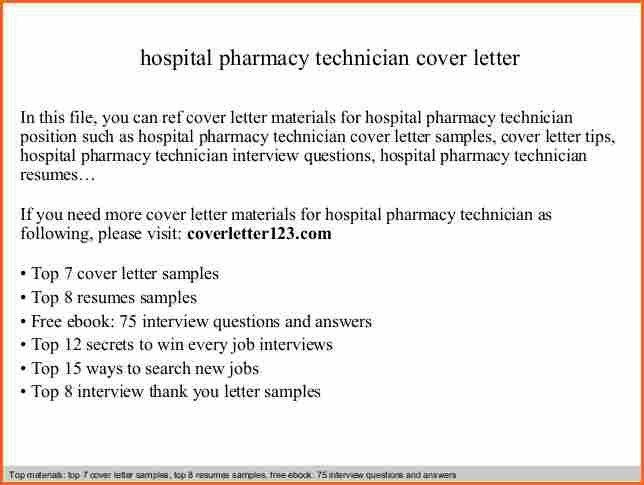 Compounding Pharmacy Technician Cover Letter Cvresumecloud