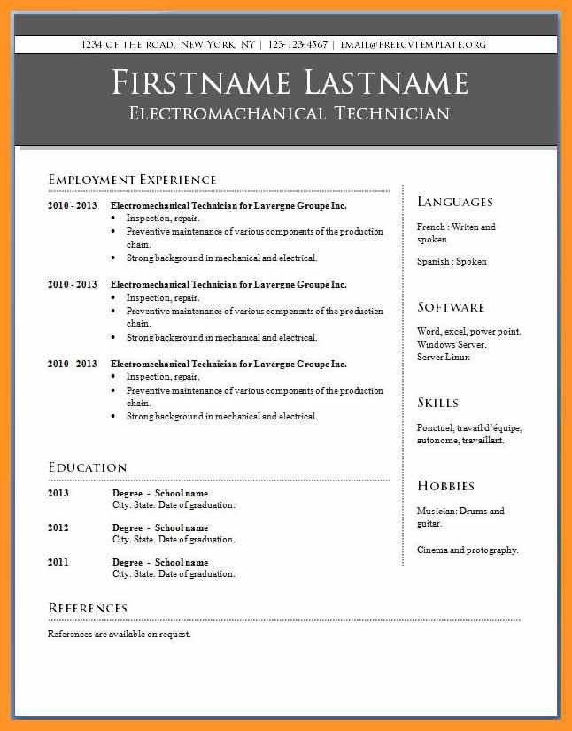microsoft publisher resume templates free sample microsoft word