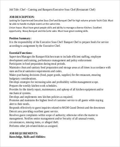 Executive Sous Chef Resume  NodeCvresumePaasproviderCom