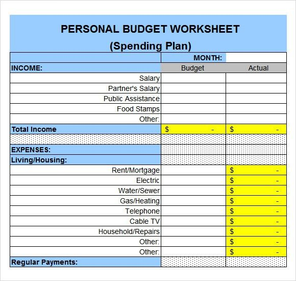 Expenses Sheet Template Free Expense Tracking And Budget Tracking - spending plan template