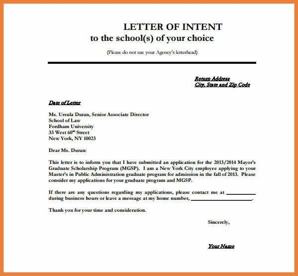 Construction Letter Of Intent Template Uk | Poemsrom.co
