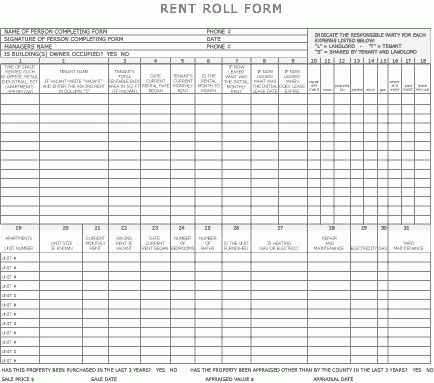 Rent Statement Template Billing Statement Template, Rental - rent roll form