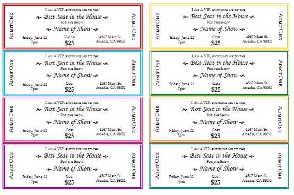 Plate Sale Ticket Template Plate Sale Ticket Template Blank - print your own tickets template free