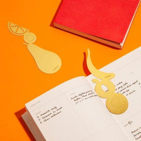 Brass Bookmark in Banana – Poketo