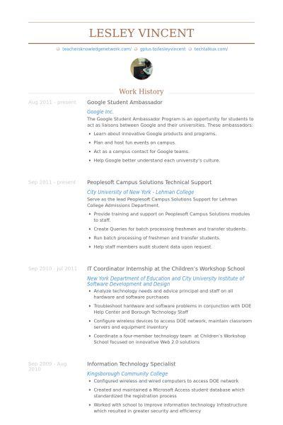 Student Ambassador Resume - Resume Ideas