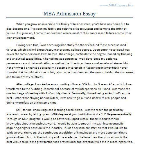 mba entrance essay examples sample mba essays mba admissions  sample mba essays