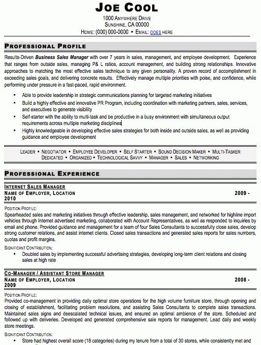 Auto Sales Resume Car Sales Resume Examples Job Description - sales resumes examples