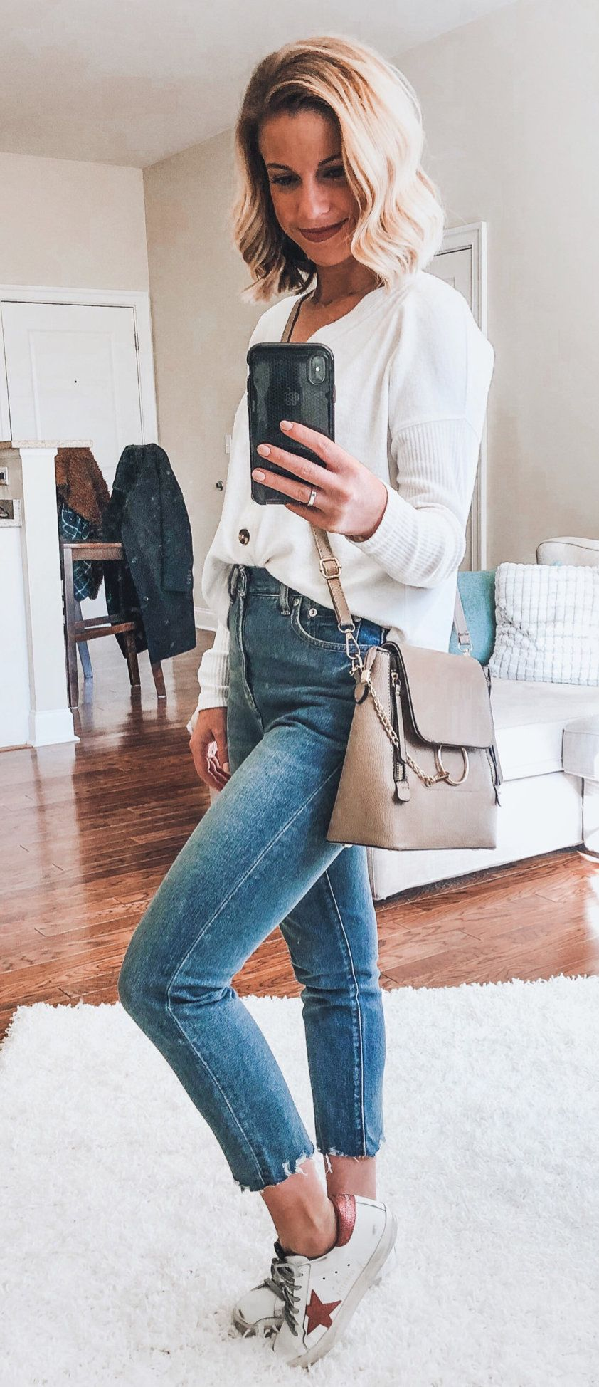 blue denim jeans #spring #outfits