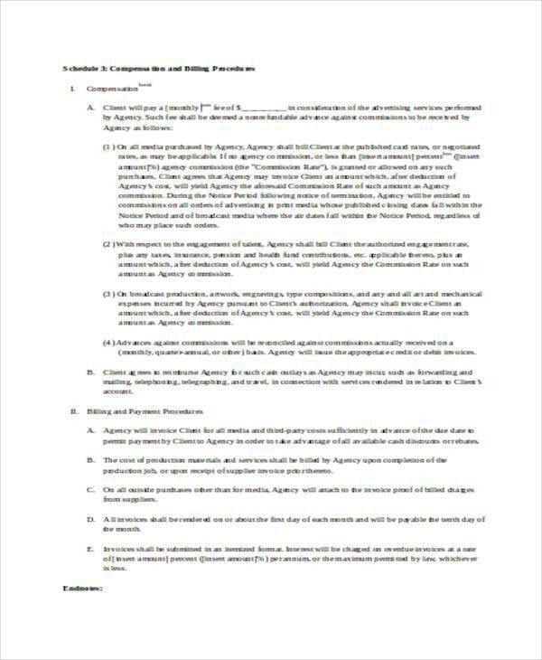 Sample Advertising Contract Template. sample advertising contract ...