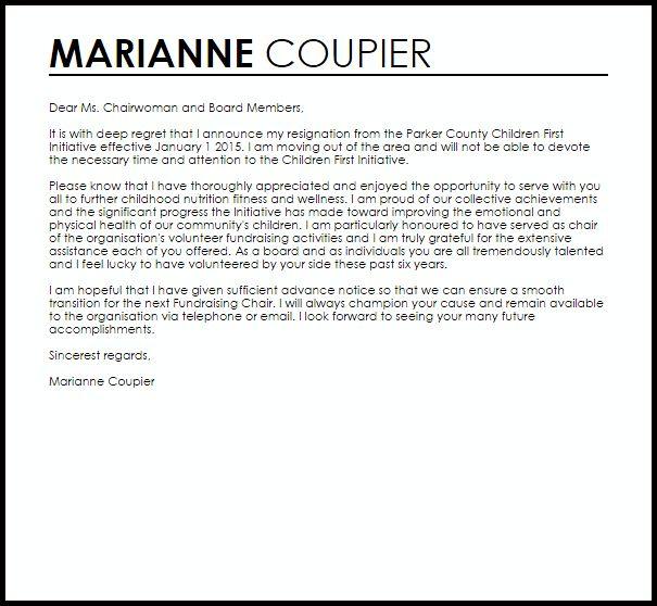 Board Member Resignation Letter Sample Download Board Member - letter of resignation examples