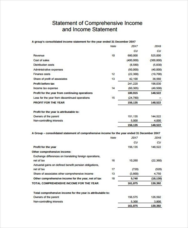 Sample Income Statement   20+ Documents In PDF, Word, Excel  Proper Income Statement