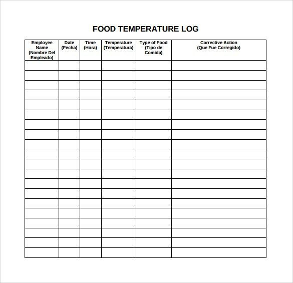 Food Log Template   14+ Download Free Documents In PDF, Word, Excel  Diary Word Template