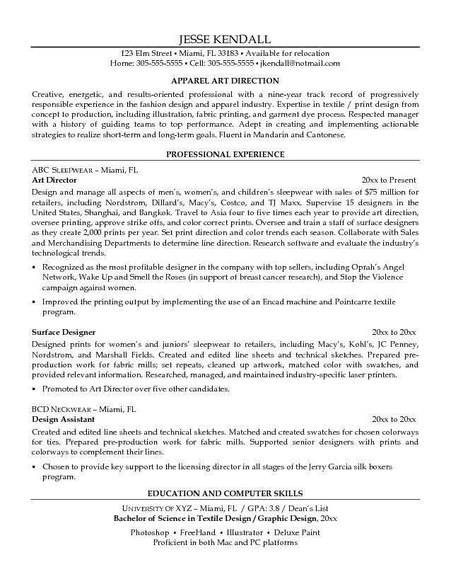Artist Sample Resume Artist Resume Sample Writing Guide Resume - art resume template