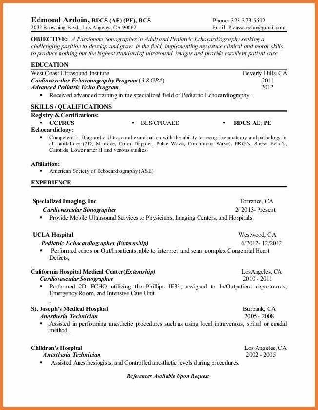 diagnostic medical sonographer cover letter