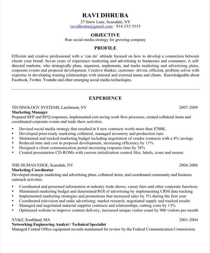 Social Media Resume Examples Social Media Resume Sample Resume - outreach coordinator resume