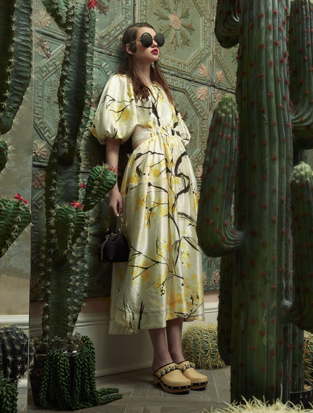 Cactus-inspired fashion editorial by Sandrine Dulermo and Michael Labica